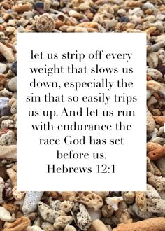 Hebrews 12:1. Bible verse for weight loss
