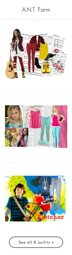 """""""A.N.T. Farm"""" by eshirley67 ❤ liked on Polyvore featuring Dr. Martens, Barneys New York, Enza Costa, Old Navy, Alex Woo, chyna parks, china anne mcclain, ant farm, disney channel and disney"""