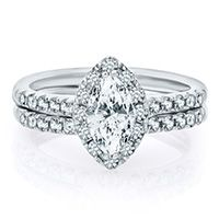 FOR THE VINTAGE BRIDE: Something about marquise diamonds reminds us of an heirloom engagement ring!