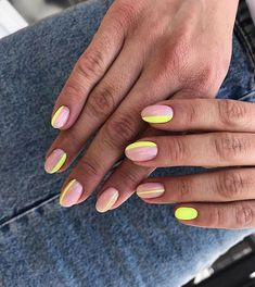 If you are a big fan of manicure, you can not miss the Essie brand. But if all the colors make you personally eye, know that there are 10 in particular that make it to the entire planet. Discover in this slideshow,… Continue Reading → Stylish Nails, Trendy Nails, Cute Nails, Milky Nails, Neon Nails, Neon Nail Art, Summer Nails Neon, Neon Green Nails, Summer Shellac Nails