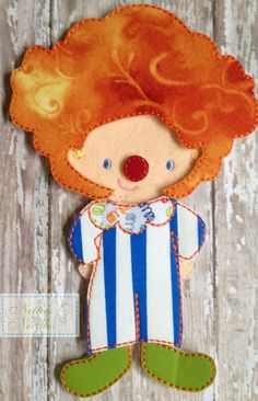 Circus Fun Felt  Doll Circus Outfit by NettiesNeedlesToo on Etsy, $6.00