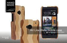 Art-Line Welle ein exklusives Luxus Mobile Holz-Case Format für Smartphones der besonderen Art. Das Ergebnis ein extravagantes Lifestyle der Superlative