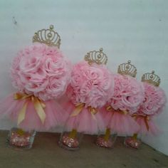 Princess Birthday Party Ideas for 6 year-olds Ballerina Baby Showers, Baby Girl Shower Themes, Girl Baby Shower Decorations, Baby Shower Princess, Baby Shower Centerpieces, Baby Shower Parties, Princess Birthday Centerpieces, Decoration Communion, Quinceanera Centerpieces