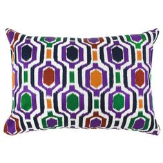 Divine Designs Embroidered Hex Pillow Decorative Throw Pillow - AR-012-046