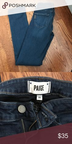 Paige Skyline skinny jeans Gently worn! Too big on me- I'm now a size 24. Paige Jeans Jeans Skinny