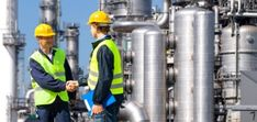 Ingimage | Stock Image Details: ISS_5452_01100 - Two petrochemical contractors closing a deal in front of an oil refinary Royalty Free Images, Closer, Stock Photos, Detail, Commercial, Oil, Butter