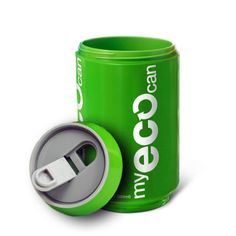 My Eco Can - durable and reusable so it helps reduce waste and increases sustainability. It decreases the use of paper cups and contributes to the preservation of our forests. Comes in 5 colors: Red, Blue, Green, Black, White.    Thermal double wall design allows for use with both hot and cold beverages.    - BPA Free  - Dishwasher safe  - Microwave safe