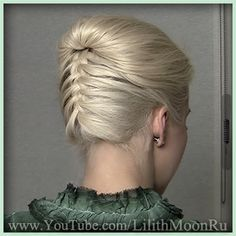 Formal updo with an upside down french braid from hair tutorial  http://www.youtube.com/watch?v=DjLras8Gc4I  this is pretty and really easy but my hair is way too long for this!!!!!!!