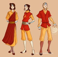 The Legend of Korra:  Airbending kids by ~ankalime on deviantART  i can so see them growing up to be this
