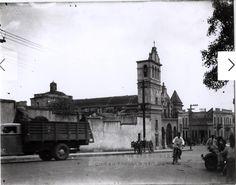 40's - Iglesia Santa Bárbara y parte de su entorno.
