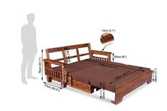 Buy Solid Wood Sofa cum Bed Online in India. Sale on Wooden Sofa cum bed. Shop new Sofa design in India at Best prices. Free Shipping Easy EMI & Easy Returns Online Furniture, Bed Furniture, Glass Kitchen Cabinet Doors, Wood Sofa, Beds Online, Sofa Set, Sofa Design, Seat Cushions, Solid Wood