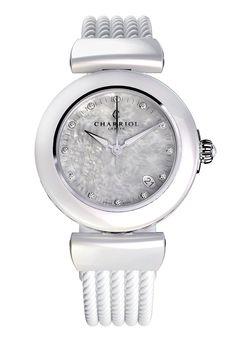Lady watch - White Ceramic - Ael - By Charriol