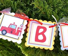 Planning a Fire Truck or Firefighter Birthday Party: Decorations