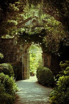 Arched gate.