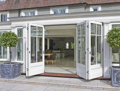 Orangery with bi-fold doors for a Buckinghamshire property - Vale Garden Houses Orangery Extension Kitchen, Orangerie Extension, Kitchen Orangery, Garden Room Extensions, House Extensions, Open Plan Kitchen Dining, Double Doors, Victorian Homes, Home Interior Design