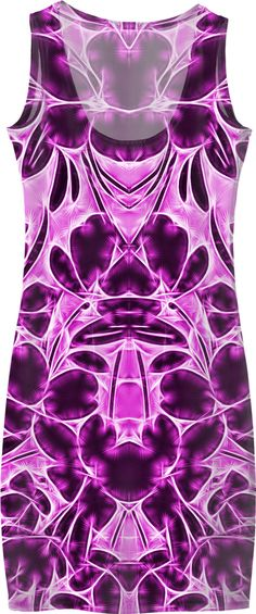 Saturated purple floral splash simple dress, flowers themed symetric dress pattern - for more art and design be sure to visit www.casemiroarts.com, item printed by RageOn at www.rageon.com/a/users/casemiroarts - also available at www.casemiroarts.com - This product is hand made and made on-demand. Expect delivery (aproximate time frames) to US in 11-23 business days (international 14-33 business days). #style #fashion #dress #clothing