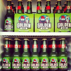 Golden Axe Cider image designed by Mikey Burton http://www.scotthull.com/artists/burton
