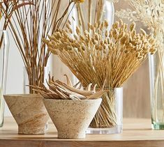 Nature Decor, Boho Decor, Pottery Barn Fall, Fall Floral Arrangements, Flower Decorations, Wheat Decorations, How To Wrap Flowers, Coffee Table Styling, Dry Plants