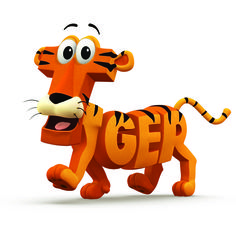 Tiger Illustrated Word Tiger Images, Graphic Design Lessons, Kindergarten Art Lessons, 7th Grade Art, Illustrated Words, Animal Letters, Tiger Art, Name Art, Typography Art