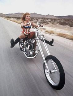 Ann Margret on her Triumph chop, some dude has his chopper stolen. Ann Margret, Triumph Chopper, Triumph Motorcycles, Harley Davidson Motorcycles, British Motorcycles, Biker Chick, Biker Girl, Heritage Softail, Foto Picture