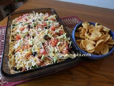 This Layered Taco Dip is so versatile. You can add your favorite layers of any ingredient you like.It never lasts long in my house and is certainly a favorite. You can serve it hot or cold, too...