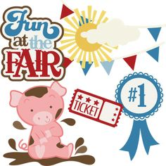 Fun At The Fair SVG files for scrapbooking paper crafting free svgs pig svg files cute svg cuts