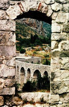 Montenegro, Stari Bar (Old Town, Antivari), Aquaduct http://www.adriaticaccommodation.net