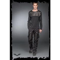 Mens Punk Industrial Long Sleeved Goth Metalhead Shirt $9 To Ship Worldwide