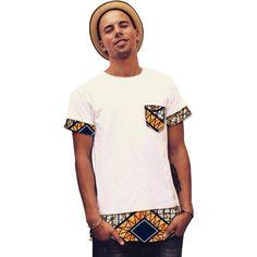 Clothign Type: Men's Shirts Shirts Type: Dashiki Kitenge Tops, Casual African Shirt Style: Fashion Pattern Type: Patchwork Collar: O-Neck Fabric Type: Batik Sleeve Length(cm): Short Material: Cotton African Shirt Styles, African Shirts For Men, African Tops, African Clothing For Men, African Wear, African Dress, African Clothes, African Style, African Outfits