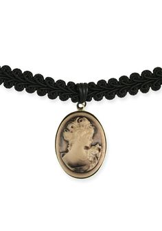 Braided Choker with Cameo