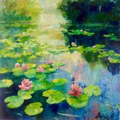 Buy River with lotos flowers. water lilies pond oil painting landscape river sunlight waterlily, Oil painting by Natalia Nosyk on Artfinder. Discover thousands of other original paintings, prints, sculptures and photography from independent artists. Pond Painting, Lily Painting, Oil Painting Flowers, Painting Clouds, Watercolor Plants, Watercolor Paintings, Original Paintings, Landscape Drawings, Landscape Paintings