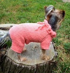 Custom perro chaqueta sudadera con capucha de por LyudmilaHandmade