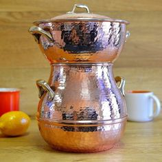 Copper Pots, Hammered Copper, Healthy Dishes, Healthy Recipes, Healthy Food, Revere Ware, Steamer Recipes, Vintage Princess, Plate Racks