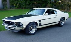 A portion of my childhood was spent with a step-father who was a true, blue-blood Ford owner. He owned a '94 SVT Lightning and would show me old school Ford muscle. The '69-'70 Mustang Boss 302 looks awesome in Wimbledon White, and is tied for my favorite Ford muscle car from the peak of the horsepower wars 40+ years ago with the Ford Mustang Boss 429.