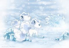 Snow Fox Vulpix by Yajuuu on DeviantArt