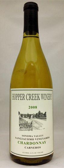 Hopper Creek Vineyard & Winery Sonoma Chardonnay 2008