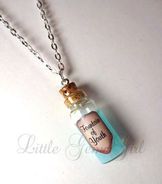 Fountain of Youth Glass Bottle Cork Necklace