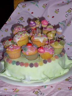 cupcake cake for baking party