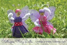 seven thirty three - - - a creative blog: Clothespin Fairy Dolls
