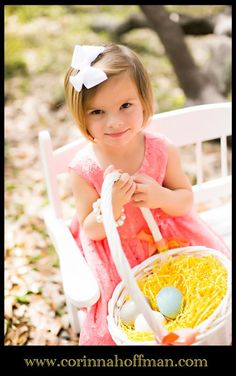 www.corinnahoffman.com Easter-themed photo shoot perfect for spring in Jacksonville, Florida