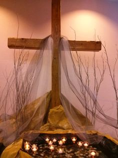 Station 4 of stations of ASH WEDNESDAY Alter Decor, Prayer Stations, Church Decorations, Ash Wednesday, Altars, Church Ideas, Lent, Worship, Religion