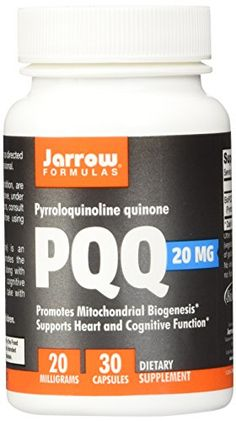 Jarrow Formulas Pyrroloquinoline Quinone, Supports Heart and Cognitive Function, 20 mg, 30 Caps - Health and Personal Care Product Search Anti Aging Supplements, Nutritional Supplements, Good Manufacturing Practice, Prenatal Vitamins, Formulas, Skin Care Remedies, Reduce Inflammation, Best Anti Aging, Health And Beauty