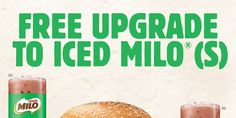 Burger King Singapore FREE Upgrade to Ice Milo (S) Promotion 24 Oct - 24 Dec 2016