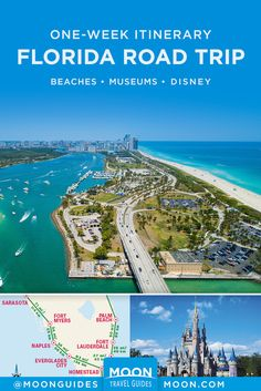 See the best of Miami the Atlantic coast and Orlando with this one-week Florida road trip itinerary. Learn about the top sights activities and shopping destinations and get advice on where to eat and stay. - Travel Miami - Ideas of Travel in Miami Road Trip Florida, Florida Vacation, Road Trip Usa, Florida Travel, Travel Usa, Cruise Vacation, Disney Cruise, Best Road Trips, Florida Living