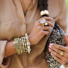 gold accesories #Fashiolista #Inspiration
