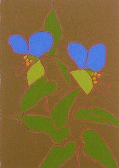 熊谷 守一 - つゆ草(1974)