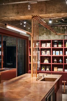 The Yagicho-Honten store design by Schemata Architects exemplifies a cohesive retail experience, matching the façade with the foods within. Design Café, Store Design, House Design, Building Exterior, Shop Interiors, Retail Space, Retail Design, Hospitality Design, Architecture Design