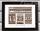 Personalized Wedding Date Frame with Number Photo Art - Sepia Frame - Custom Wedding Gift Idea. via Etsy. Wedding Date Art, Wedding Ideas, Wedding Fun, Wedding Planning, Custom Wedding Gifts, Personalized Wedding Gifts, Craft Gifts, Diy Gifts, Creative Gifts