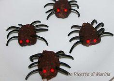 Ragnetti di Halloween (tartufi al cioccolato) - Ricetta dolce