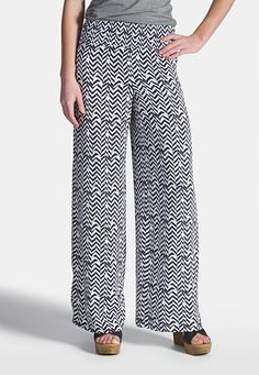 palazzo pants in herringbone print (original price, $34) available at #maurices